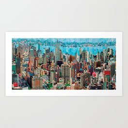 Stressless - New York City Skyline - Empire State Building Photograph on Canvas by Serge Mendjisky Art Print