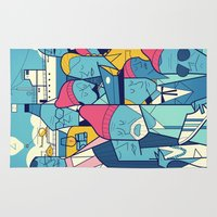 zissou Area & Throw Rugs featuring The Life Acquatic with Steve Zissou by Ale Giorgini