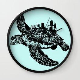 Sea Turtle City Wall Clock