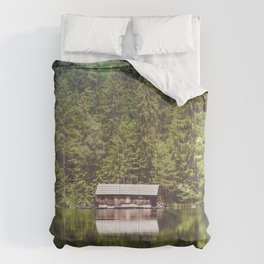 Cottage in the Forest (Color) Comforters