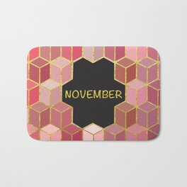 Cubes Of November Bath Mat
