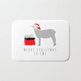 Merry Christmas to Ewe Bath Mat