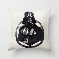 darth vader Throw Pillows featuring Darth Vader by Yvan Quinet