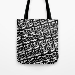 Party Time Concept Typographic Pattern Tote Bag