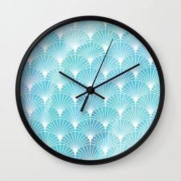 Mermaid Fans: Ocean Mist Wall Clock