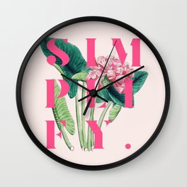 Simplify. #society6 #decor #buyart Wall Clock