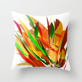 autumn abstract digital painting Throw Pillow