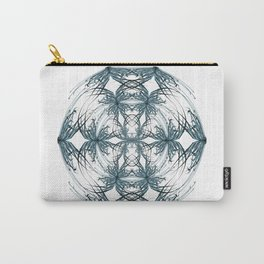 Mandala blue and black Carry-All Pouch