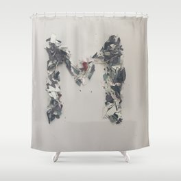 Letter M in paint Shower Curtain