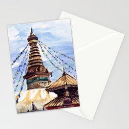 Swayambhunath Stupa Kathmandu Nepal Stationery Cards