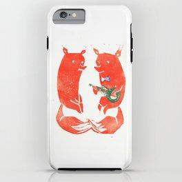 Mister Fox in love iPhone Case