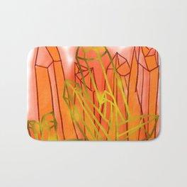 Crystals - Orange Bath Mat