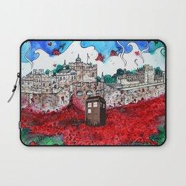 TARDIS IN POPPIES Laptop Sleeve