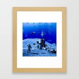 Something Strange on the Moon Framed Art Print