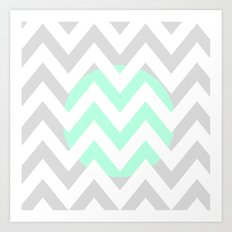 CIRCLE CHEVRON Art Print