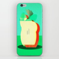 apple iPhone & iPod Skins featuring Apple by Amelia Senville