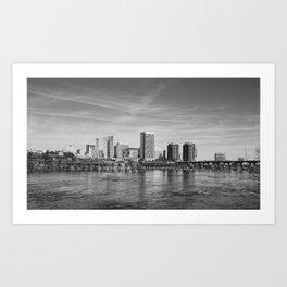 River City Skyline Art Print