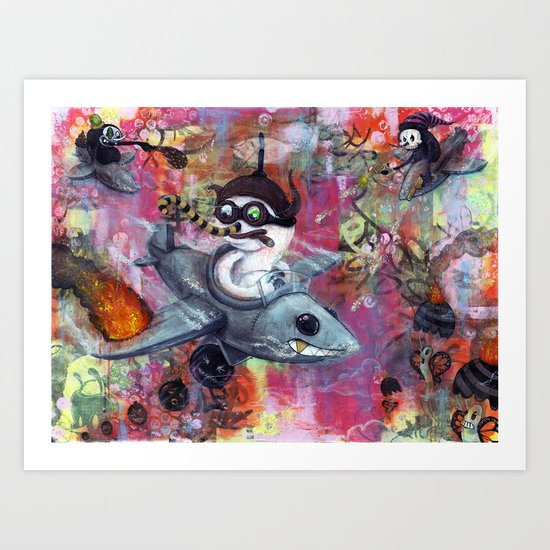 FlyGuys Art Print