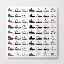 Air Jordan Series Collection 1-14 Metal Print