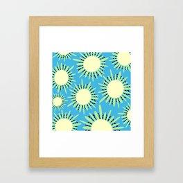 Kiwi Sun Print | Kiwi Print | Summer | Fruity Print | pulps of wood Framed Art Print