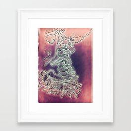 Trippy Vertebrae Framed Art Print