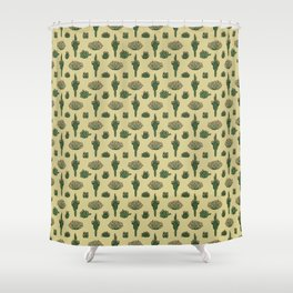 Cacti Pattern Shower Curtain