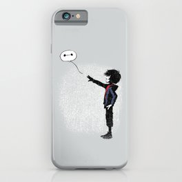 Boy with Robot iPhone Case