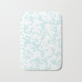 Spots - White and Light Cyan Bath Mat