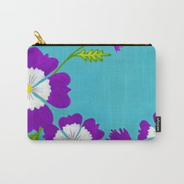 Summer Folk Flowers Carry-All Pouch
