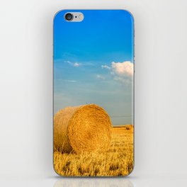 Haye bale in the harvest time iPhone Skin