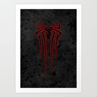 spider man Art Prints featuring Spider Man by sambeawesome