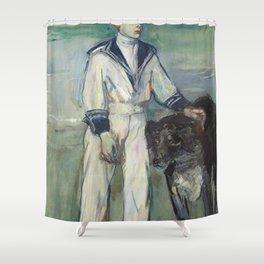 Henri de Toulouse-Lautrec - L'Enfant au chien, fils de Madame Marthe et la chienne Pamela, Taussat Shower Curtain