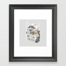 Vancouver/Toronto 1/2 Framed Art Print