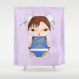 A Girl - Chun-Li Shower Curtain