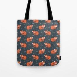 Red Panda Pattern Tote Bag