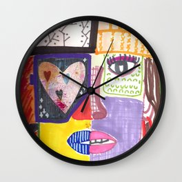 lady with a hat Wall Clock