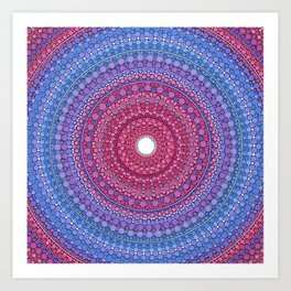 Keeping a Loving Heart Mandala Art Print