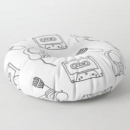 Music Pattern Floor Pillow