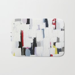 """No. 31 - Print of Original Acrylic Painting on canvas - 16"""" x 20"""" - (White and multi-color) Bath Mat"""