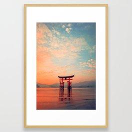 Miyajim Island Torii Framed Art Print