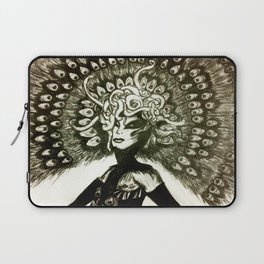 Peacock Lady Laptop Sleeve