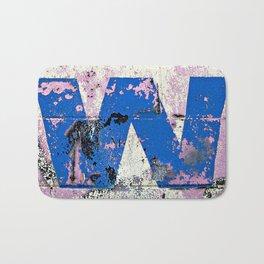 Blue W  Bath Mat