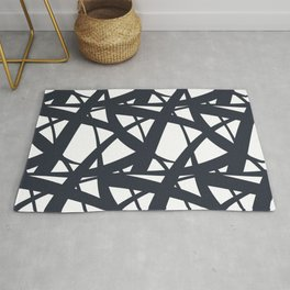 Dark Blue and White Abstract Mosaic Pattern 3 Pairs To Jolie 2020 Color of the Year Rug