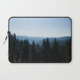 Scenic Tree Lined Valley Photography Print Laptop Sleeve