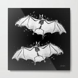 Skeletal Bat - inverted Metal Print