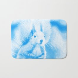 squirrel digital oil paint dopwb Bath Mat