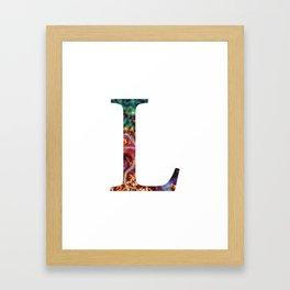 """Initial letter """"L"""" Framed Art Print"""