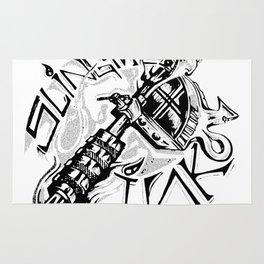 Slinging Ink Rug