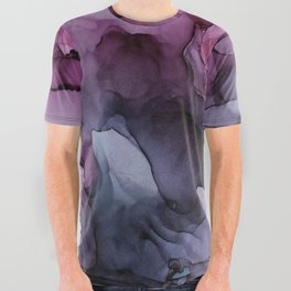 Abstract Ink Painting Ethereal Flowing Watercolor Nebula All Over Graphic Tee