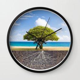 Sea Beach Tree of Life Wall Clock